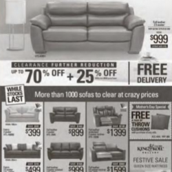 3 Days Special Up to 70% Off @ HTL Sofa Outlet