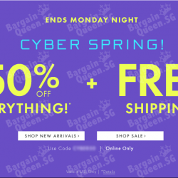 Cyber Spring sale 50% off everything @ Ann Taylor