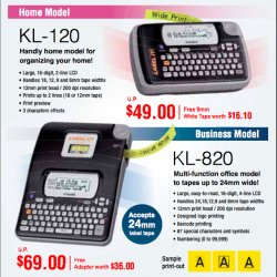 Casio label makers special @ homenoffice.sg