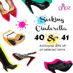 Additional 30% off on selected items @ Gripz