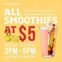 Weekdays All smoothie at $5 @ Smoothie King