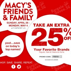 Friends and Family sale @ Macy