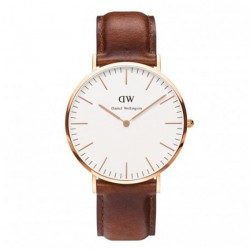 (Flash Deal) DW Classic St Mawes Men's Brown Leather Strap Watch