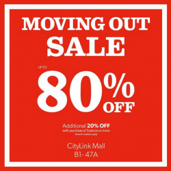 Moving Out Sale: Up to 80% OFF + additional 20% OFF with purchase of 3 pieces @ New Look (Citylink)