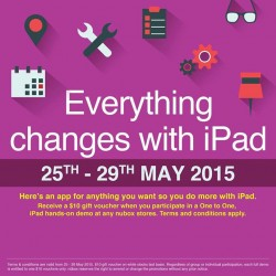 Hands-on demo on the latest iPad and receive $10 gift voucher @ nübox