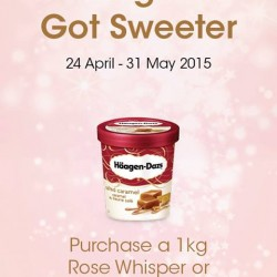 a free pint with 1KG cake purchase @  Häagen-Dazs