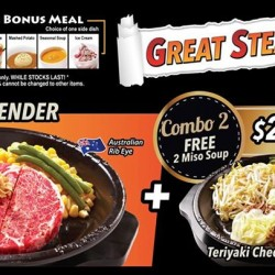 FREE 2 Miso soups for only $29.90 @ Pepper Lunch