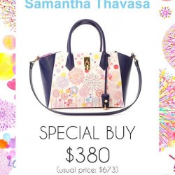 Limited edition Artist Azayle Bag at a special price of $380 @ Samantha Thavasa