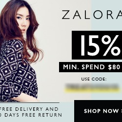 15% off storewide coupon code @ Zalora