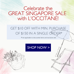 Great Singapore Sale Promotion @ L'OCCITANE online