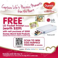 FREE LG printer worth $229 with purchase @ Dumex