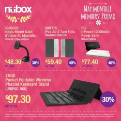 Up to 40% off member's specials @ nübox