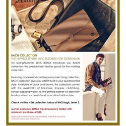 Bonia men's 2015 SS promotion @ BHG
