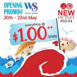 $1++ per plate Opening Promo is coming @ Sushi Express White Sands outlet