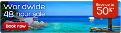 Up to 50% off Worldwide hotel 48 Hour Sale @ Hotels.com