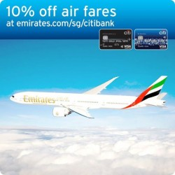 10% Off Air Fares with your Citibank Credit Card @ Emirates