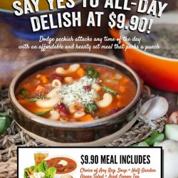 $9.90 meal set @ The Soup Spoon