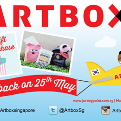 Special welcome gift with $35 purchase on 25th May @ Artbox