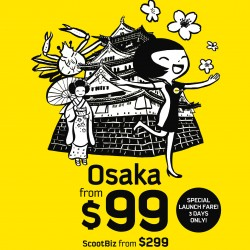 Fly to Osaka from $99 @ Scoot