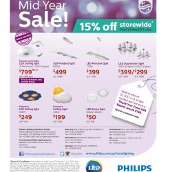 15% off storewide mid year sale @ Philips