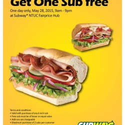 Buy 1 Free 1 Promotion @ Subway