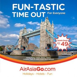Fun-Tastic Time Out: Hotels Deals from $49/night @ AirAsiaGo