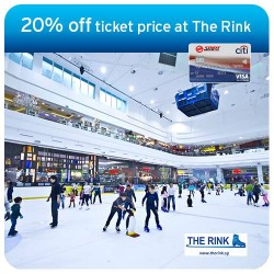 Enjoy 20% off ticket price with Citibank SMRT Card Exclusive @ The Rink