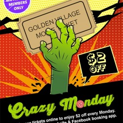 GV Movie Club Crazy Monday lets you take $2 off ticket prices