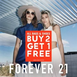 Buy 2 Get 1 Free sale on all Bags & Shoes @ Forever 21 313somerset