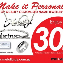 Name Jewellery Pendant 30% Discount @ Metallurgy