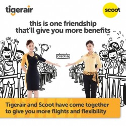 Tiger & Scoot have come together to give you more flights
