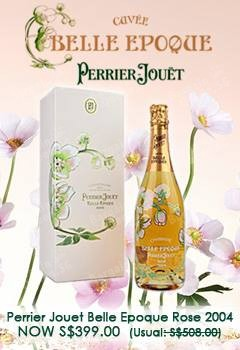 Perrier Jouet Belle Epoque Rose exclusive offer price of S$399.00 (usual $508.00) @ The Oaks Cellars