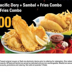 Flash the coupon and enjoy a combination of golden meals @ Long John Silver's
