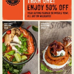 50% Off Second order @ The Soup Spoon