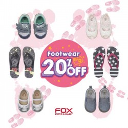 20% off footwear @ Fox kids and baby
