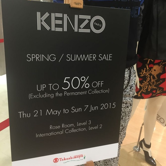 21 May - 7 June 2015 Up to 50% OFF KENZO Spring   Summer Sale Has Started    Takashimaya b5cb7d40aed