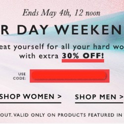 30% OFF Labour Day Sale @ Zalora