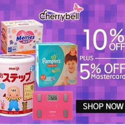 10%  + 5% off @ CherryBell on Rakuten with Master Card