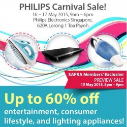 The Long Waited Philips Carnival Sale is coming back on 16 May 2015!