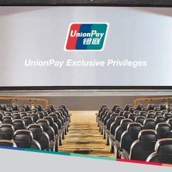 UnionPay Cardholders enjoy 1-for-1 movies everyday!