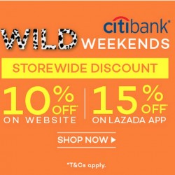 Up to 15% Off Storewide with Citibank Credit Cards @ Lazada