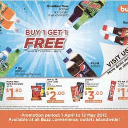 Select Items: Buy 1 Get 1 Free @ Buzz