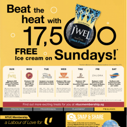 Beat the heat with 17500 FREE Ice Cream on Sundays @ NTUC