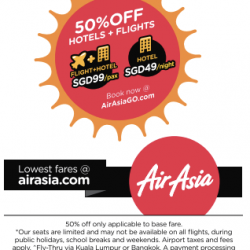 The Lowest Fares All Destinations: 50% Off @ AirAsia