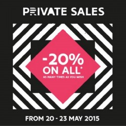 20% OFF Storewide: Sephora Private Sales happening from 20 - 23 May 2015