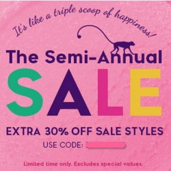 The Semi-Annual Sale from US$19.9 with extra 30% off @ Kipling USA
