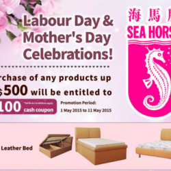 Labour day and Mother's day promotion  @ Sea Horse