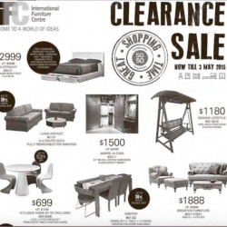 Clearance Sale @ International Furniture Centre