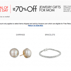 70% off selected jewellery and accessories for mom @ Amazon