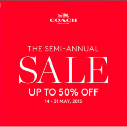 The semi-annual sale up to 50% off @ Coach